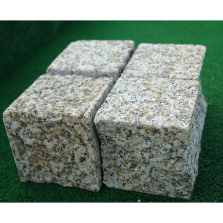 Kostka granitowa STRZEGOM szara/żółtoszara - z płyty